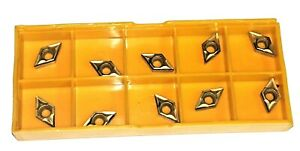 160408 TiCN-Al2O3-TiN Coated Carbide Inserts for Steel 10 pcs VNMG 332
