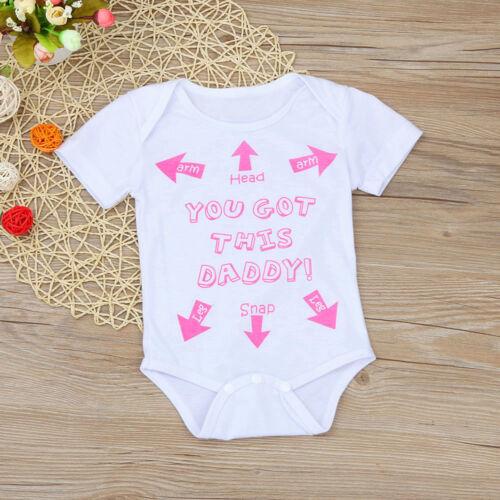 Newborn Toddler Infant Kids Baby Cute Letter Romper Jumpsuit Casual Clothes Set