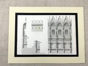 1857-Engraving-Print-Italian-Architecture-St-Francis-of-Assisi-Cathedral-Italy