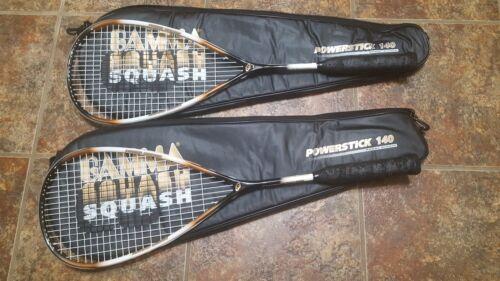 Deux Gamma powerstick 140 Squash Raquette et grip Grip RARE