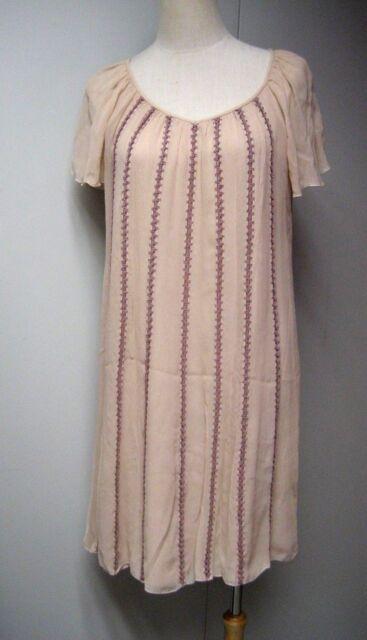 11347713ebe Cacharel Dusty Pink Silk Crochet Dress Size 36 | eBay