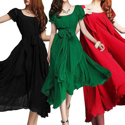 New Sexy Women Dress Summer Long Dress Evening Party Beach Dresses Chiffon Dress