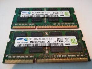 2x 4GB 8GB DDR3 RAM 1600 Mhz Apple MacBook Pro Mid 2012 SO DIMM PC3-12800S