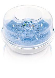 Philips-Avent-Sterilisateur-Biberons-Vapeur-pour-Voyage-Micro-Onde-Compact-Neuf