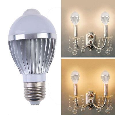 E27 5W 16 LED Home PIR Auto Motion Sensor Super Bright White LED Light Bulb Lamp
