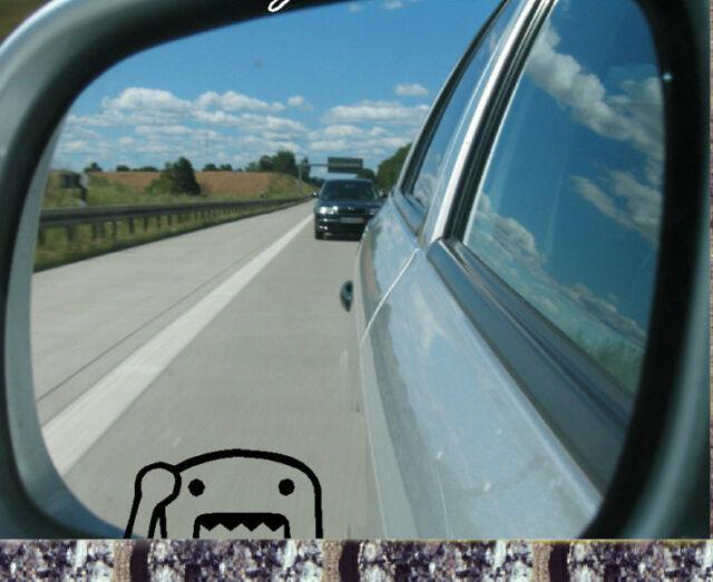 Domokun  Spiegel Aufkleber  JDM OEM Sticker Auto Bike  35x16mm