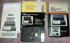 Kraco Kca 8 Cassette Adaptor For 8 Track Tape Player All Original Box Home Car