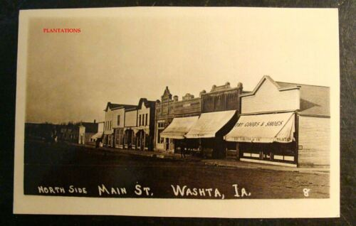 MAIN STREET WASHTA NORTH SIDE IOWA Photograph