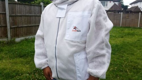 Ventilated beekeeping jacket beekeeper jacket Bee jacket with fencing veil-2XL