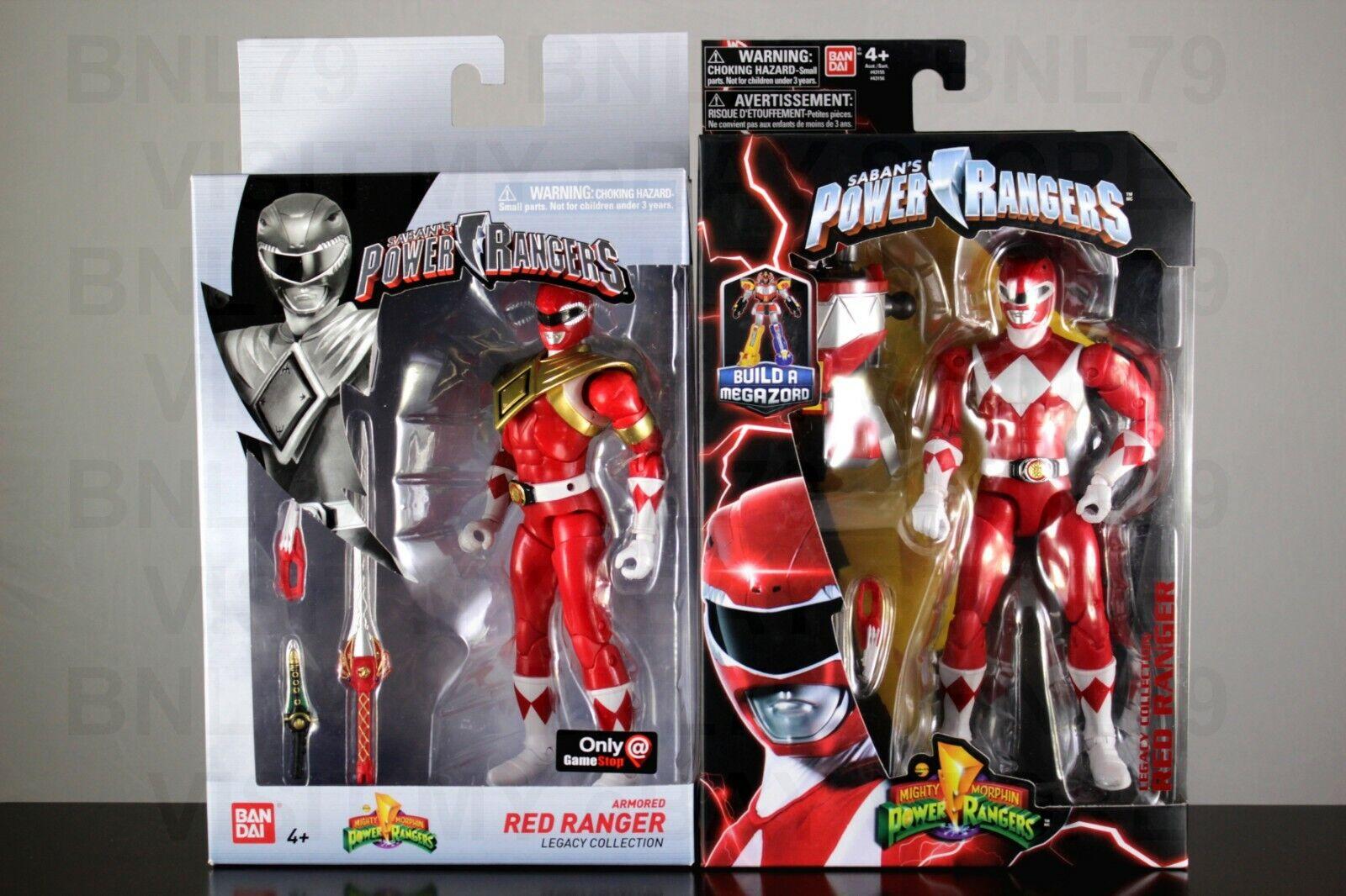 rojo Ranger & blindado 2018 Power Rangers Mmpr Legacy Colección Megazord Baf