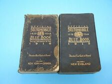 THE OFFICIAL AUTOMOBILE BLUE BOOK ( 2 BOOKS ) 1915 & 1916 WITH FREE SHIPPING