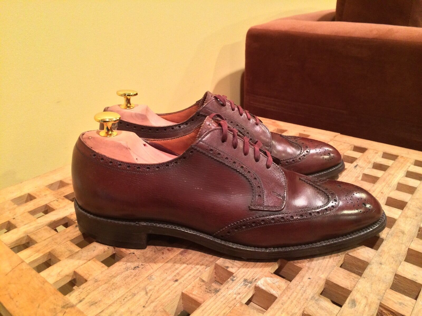 Church's For For For Brooks Brothers braun Shortwing Half Brogue schuhe Wingtip 7.5 C ae2edc