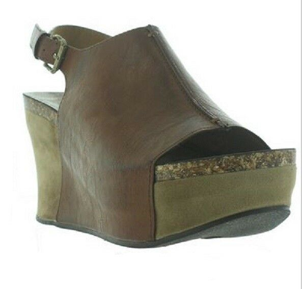 Pierre Dumas Women's Hester-14 Whiskey 22617 Peeptoe Wedge Sandals Sizes
