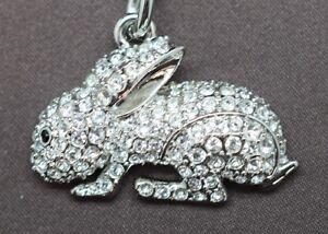 Rabbit-Key-Chain-Made-With-Clear-Swarovski-Crystals
