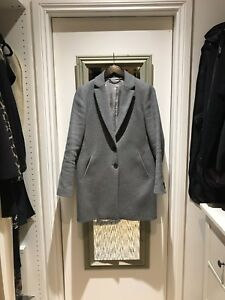 Style Compact Size Jigsaw Coat Grey Uk8 Crombie Wool wIvxO5qR