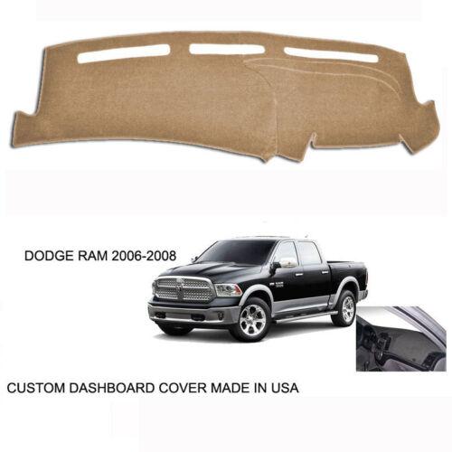 New Dodge Ram 1500 2500 Truck Custom Beige Tan Dashboard Dash Cover 2006--2008