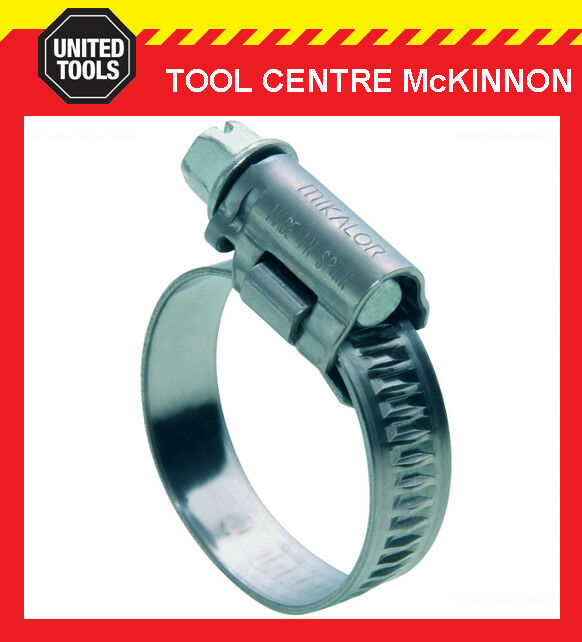 "MIKALOR HOSE CLAMPS 8mm – 16mm STAINLESS CLIP AIR FITTING – SUIT 3 8"" AIR HOSE"