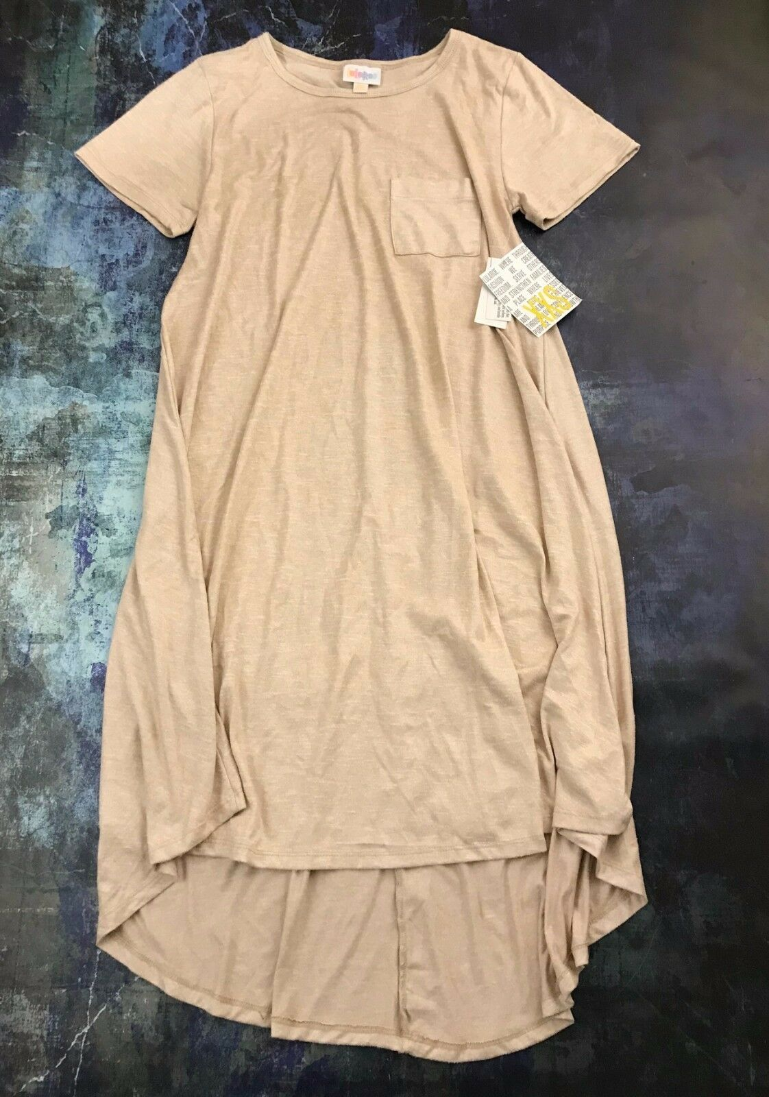 Nouveau Carly  lularoe  Femme Confortable Chemise Robe-XXS Extra Small Tan