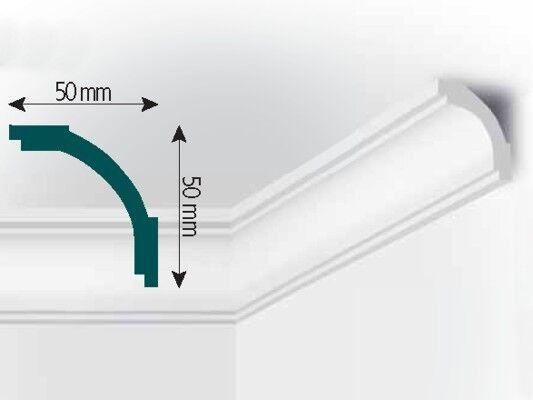 XPS Stuck Deckenleiste, 2000x50x50mm, Fachhandelsqualität, Mod. M4