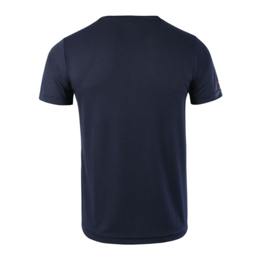 Men/'s Workout Fitness Sports T-shirt Round-neck Short Sleeve Dri-fit Breathable