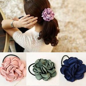 Elastic-Rope-Hair-Accessories-Rose-Flower-Hair-Bands-Scrunchie-Ponytail-Holder