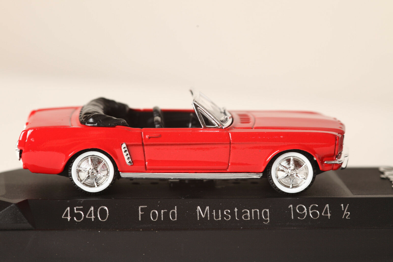 Solido 1 43 Ford Mustang Mustang Mustang 1964 1 2 4540 rot Cabrio in OVP unbespielt (36150)  | Vorzüglich  7f2d0b