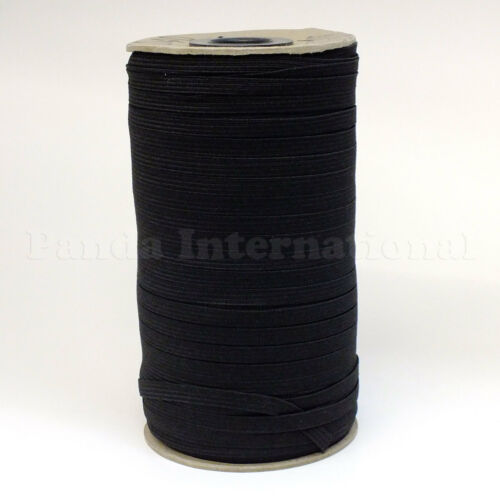 Elastic Band for many application 1//8 inch,288 Yard//ro Black New Soft Polyester