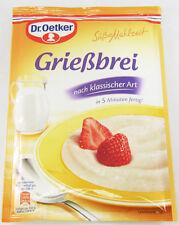 Dr.Oetker Griessbrei Semolina Porridge -2/3 servings-Made in Germany