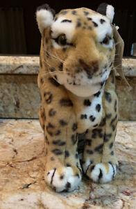 "Wildlife Tree Standing 12"" Stuffed Leopard Plush Floppy Animal Kingdom"