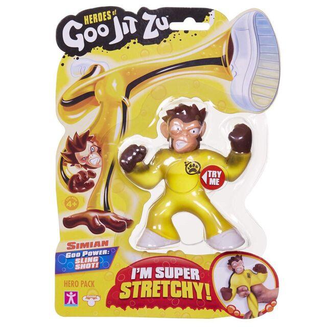 🔥 GOO JIT ZU Simian STRETCHY FIGURE Kids FUN Xmas Gift Toy Rare Heroes Monkey