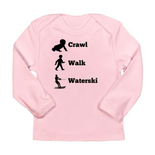 CafePress Crawl Walk Waterski Long Sleeve T Shirt Baby Bodysuit 1606267538