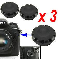 3 x PROTEZIONE TAPPO Flash Sync Terminal Cap 10-pin Remote Cover for Nikon Fuji