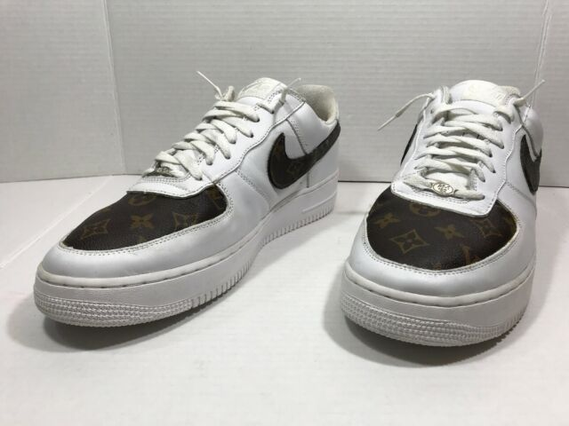 Nike Air Force 1 One Low Men's Basketball Shoes White Brown 306353 112 Sz 14