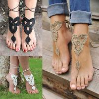 Damen Fuss Ketten Fußkettchen Knöchel Armband Barfuß Sandale Strand Fuß