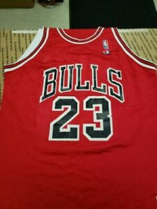 the best attitude 502ce be72f Michael Jordan Authentic Champion #23 Red Jersey Size 48