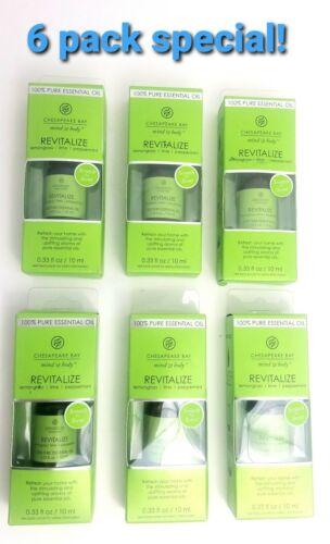 6 Pack Chesapeake Bay Essential Oil Mind/&Body Lemongrass Lime Peppermint 0.33oz