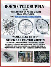 "BOB'S CYCLE SUPPLY HD HARLEY BILLET CUSTOM 40 HOLE SPOOL WHEEL HUB RAW 4"""