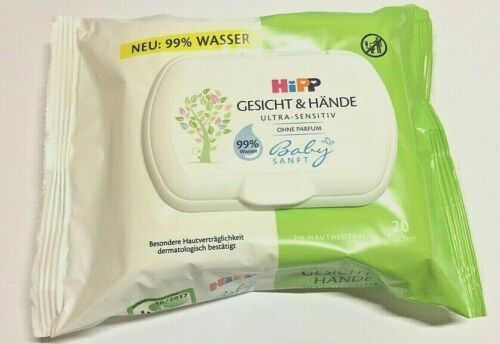 3 x 20/'er HIPP Babysanft Gesicht /& Hände Tuch ultra sensitiv Feuchttücher Baby