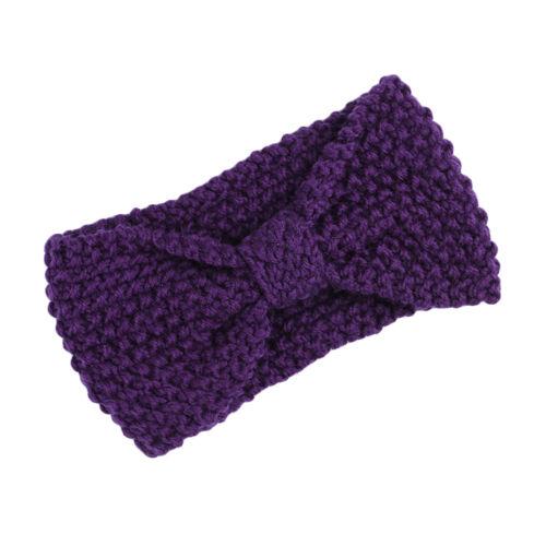 Women Crochet Headband Knit Bowknot Hairband Ear Warmer Winter Headwraps F6D