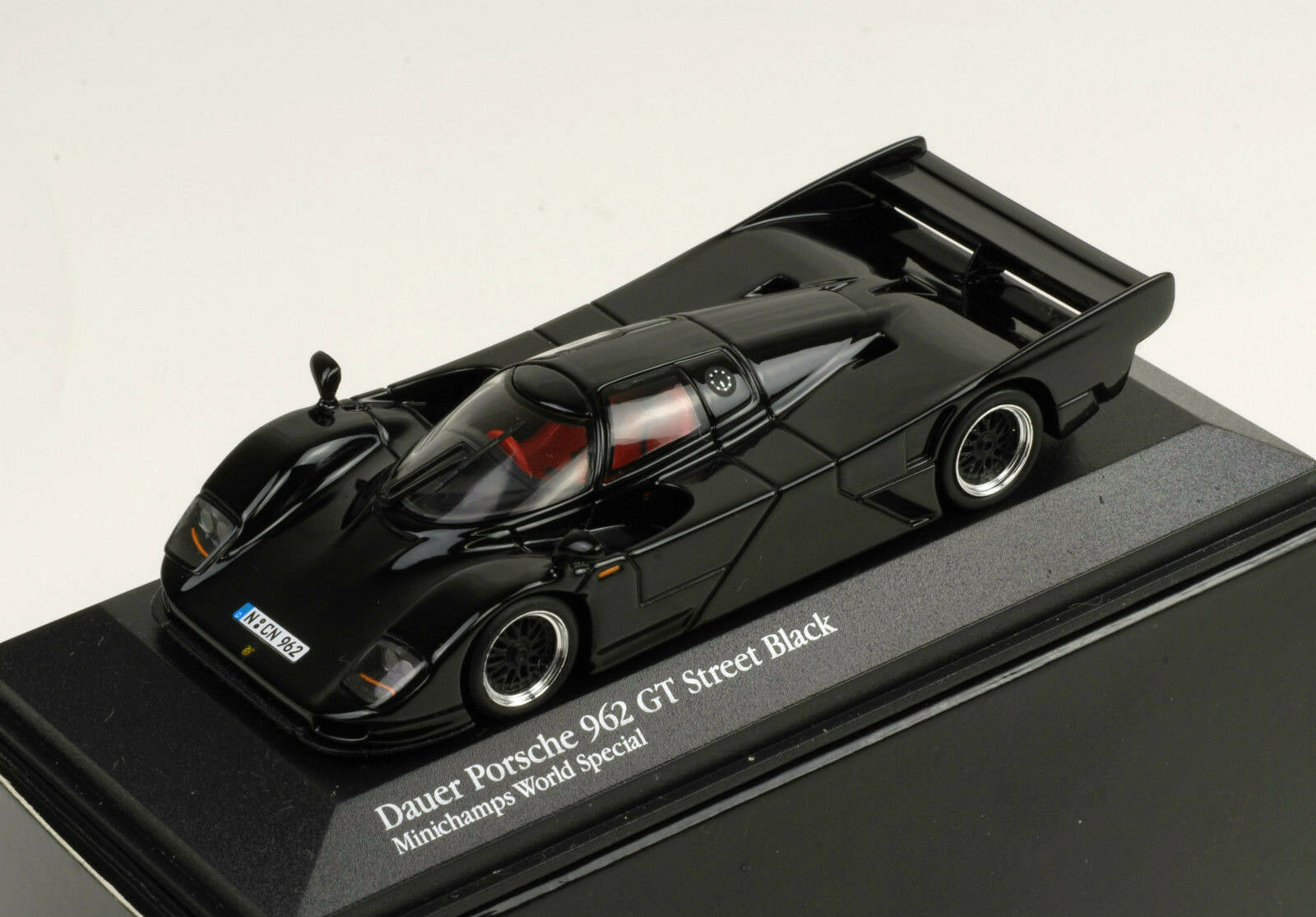 nueva marca Minichamps 1 43 43 43 Porsche 962 GT Street negro (Minichamps World Special)  promociones