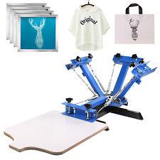 4 Color Screen Printing Machine 4pcs 110 Mesh Aluminum Silk Screens Equipment