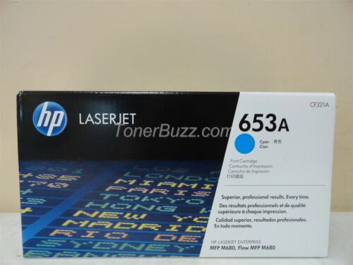 GENUINE HP CF321A 653A CYAN TONER CARTRIDGE LASER JET MFP M680 BRAND NEW