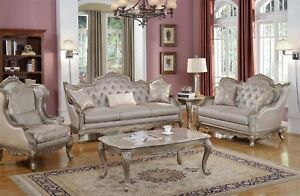 Details about Elegant Traditional Antique Style Sofa & LoveSeat Formal  Living Room Furniture