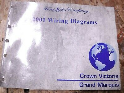 2001 Ford Crown Victoria Mercury Grand Marquis Factory Wiring Diagrams Manual Ebay