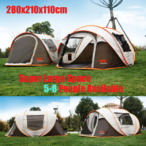 5-8-Person-Ultralight-Large-Automatic-Tent-Windproof-Waterproof-Pop-up-Camping