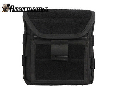 Military Hunting Airsoft 1000D Molle Tactical Admin Magazine Storage Pouch Black