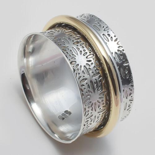 Solid 925 Sterling Silver Spinner Ring Meditation Ring Statement Ring Size SR734