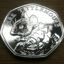 Mrs Tittlemouse - Beatrix Potter 50p Fifty Pence coin 2018 - Uncirculated