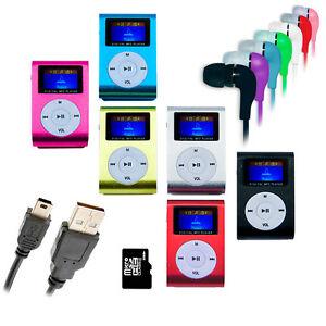 REPRODUCTOR-LECTOR-MP3-PLAYER-RADIO-FM-ALUMINIO-MINI-USB-MICRO-SD-8GB-CASCOS