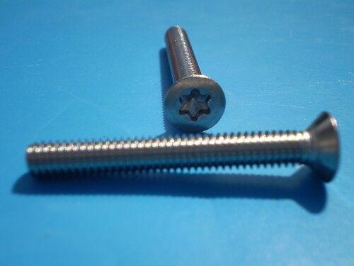 100 Edelstahl Torx Gewindeschrauben DIN 965 V2A M2 x  3 mm Senk Kreuzschrauben